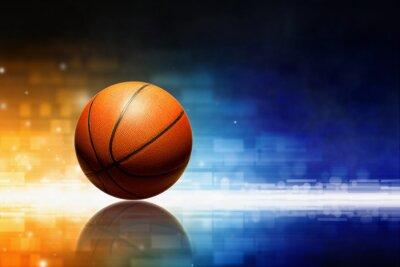 Basketball mit Reflexion