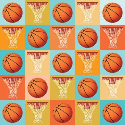Basketball-Muster-Hintergrund