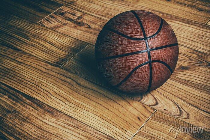 Fototapete Basketball on Hardwood 1