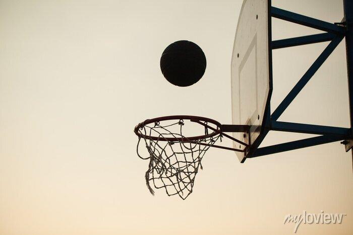 Fototapete basketball over the ring