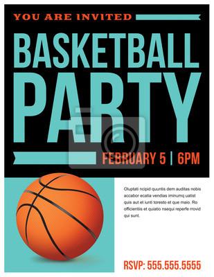 Basketball-Party-Flyer Einladungs-Illustration