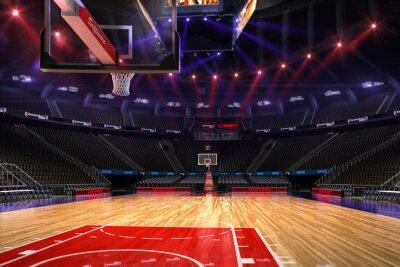Basketball Platz. Sport arena.Photoreal 3d übertragen Hintergrund.
