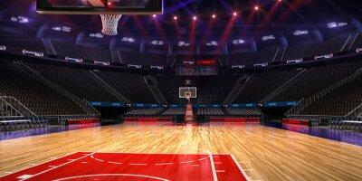 Basketball Platz. Sport arena.Photoreal 3d übertragen Hintergrund. Blured in Langstreckenabstand (wie magere optische), ein wenig Lärm (wie Fotografie)