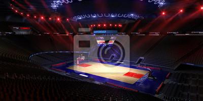 Basketball Platz. Sport arena.Photoreal 3d übertragen Hintergrund. Blured in Langstreckenabstand (wie magere optische), ein wenig Lärm (wie Fotografie) Farbe