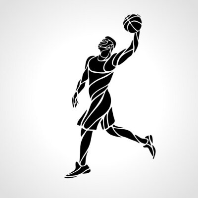 Basketball player. Slam Dunk black creative Silhouette
