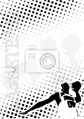 Basketball Punkte Poster Hintergrund