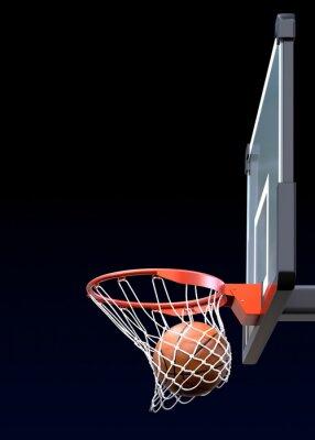 Fototapete Basketball Schuss