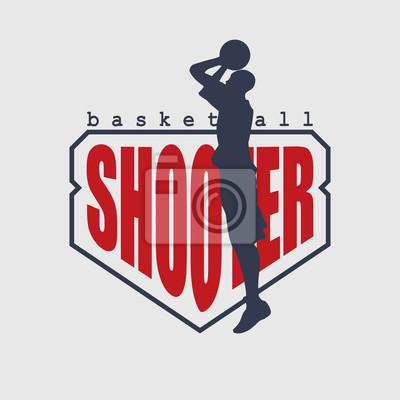 Basketball shooter emblem