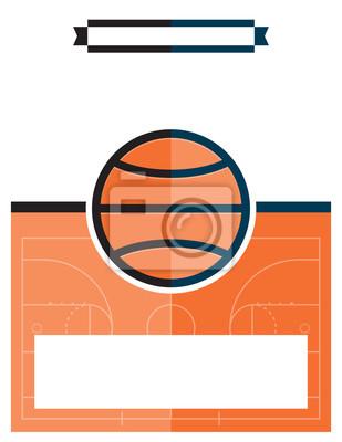 Basketball-Spiel-Flyer-Abbildung