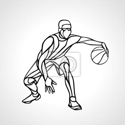 Basketball-Spieler abstrakte Silhouette