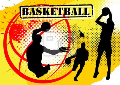 Basketball-Spieler auf Grunge-Hintergrund