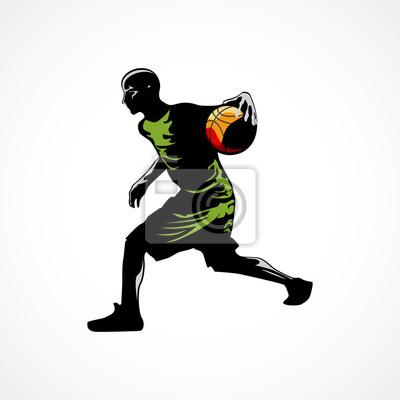 Basketball-Spieler dribbelte den Ballübergang