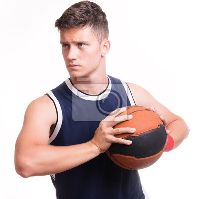Basketball-Spieler mit dem Ball