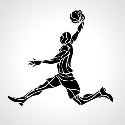 Basketball-Spieler. Slam Dunk Schattenbild