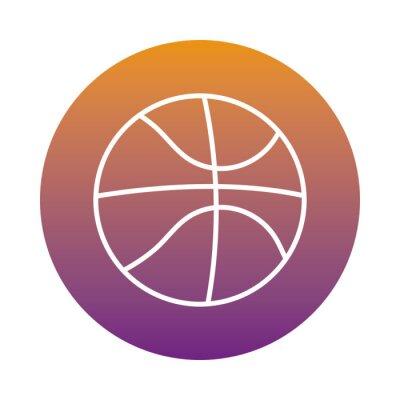 basketball sport balloon block style icon