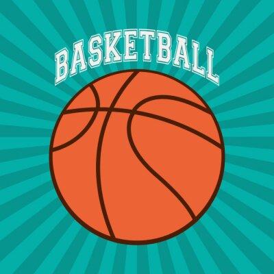 Fototapete Basketball-Sportentwurf