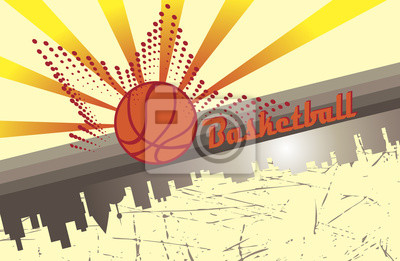 Basketball-Stadt.Abstract horizontale Poster