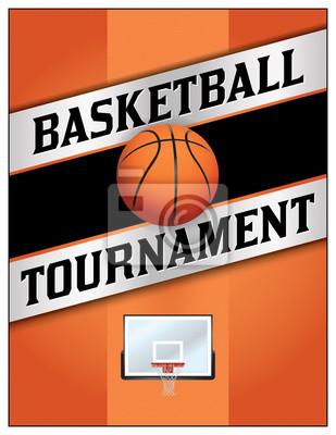 Basketball-Turnier-Flyer-Plakat-Illustration