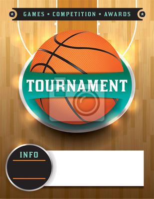 Basketball-Turnier-Schablone