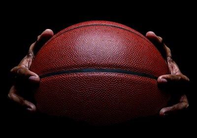 Basketball und Handgreif