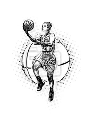 Basketball-Vektor-Illustration der Frauen