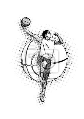 Basketball-Vektor-Illustration der Männer