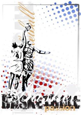 Fototapete Basketball Vektor Poster Hintergrund