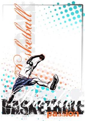 Basketball Vektor Poster Hintergrund