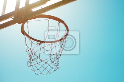 Basketballkorb mit Netz