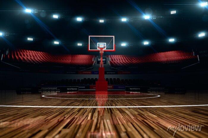 Fototapete Basketballplatz.
