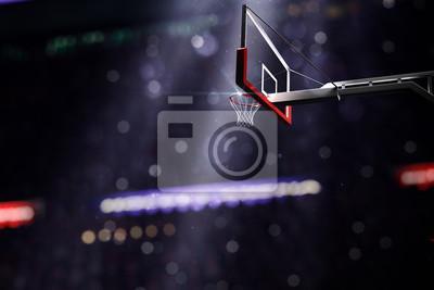 Basketballplatz. Sport-Arena. 3d übertragen Hintergrund. unfocus in Totale Distanz