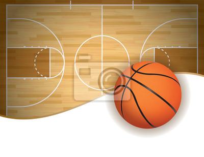 Basketballplatz und Ball Background