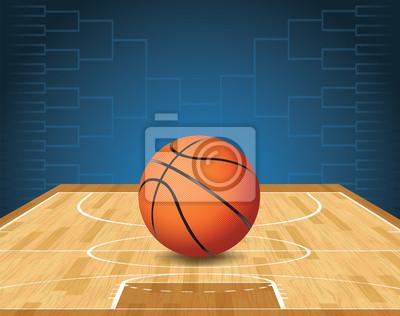 Basketballplatz und Ball-Turnier Illustration