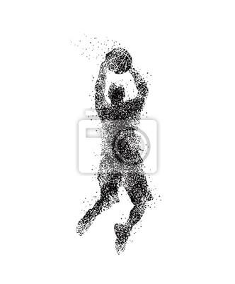 Basketballspieler, Silhouette