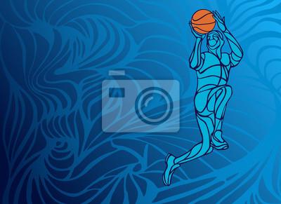 Basketballspieler Slam Dunk Silhouette