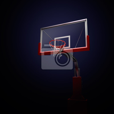 basketbolnoe RING Sport-Arena. 3d übertragen Hintergrund. unfocus in Totale Distanz