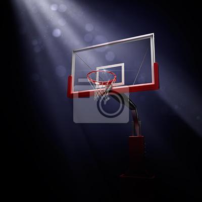 basketbolnoe RING. Sport-Arena. 3d übertragen Hintergrund. unfocus in Totale Distanz
