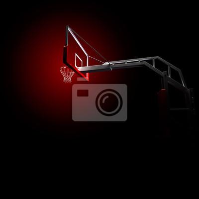 basketbolnoe RING. Sport-Arena. 3d übertragen Hintergrund. unfocus in Totalen Abstand