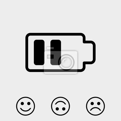 Batterie-web-symbol, batterie-symbol vektor fototapete • fototapeten ...