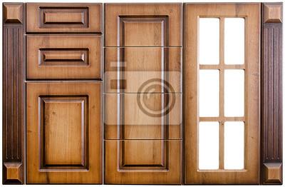 Fototapete Baum, Küche, Kaschierung, Schrank, Schräge, Schublade, Farbe, Tür