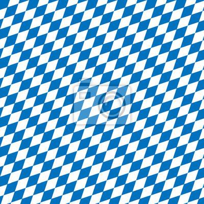 Diamond Background With Bavarian Pattern