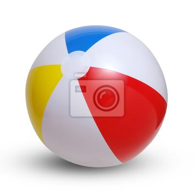 Fototapete Beach Ball auf einem weißen