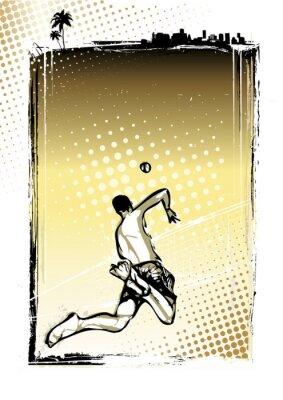 Beach-Volleyball-Plakat Hintergrund