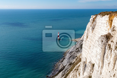 Fototapete: Beachy head lighthouse & cliff, in der nähe von eastbourne, east