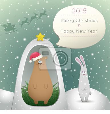 bear and hare congratulate