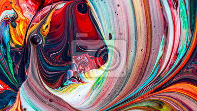 Fototapete Beautiful acrylic color abstract background