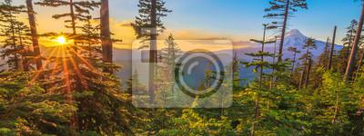 Fototapete Beautiful Vista of Mount Hood in Oregon, USA.