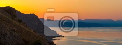 Fototapete Beauty nature evening or morning sea landscape