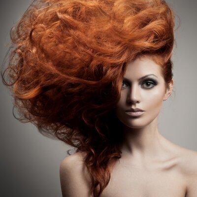 Fototapete Beauty Portrait. Haarschnitt