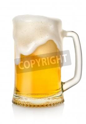 Fototapete Becher mit Bier
